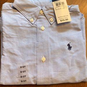 Ralph Lauren Polo 2/2T light blue dress shirt